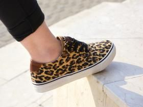 Colectia de primavara! Tenisi Sharpen #sneakers #shoes #new #spring #collection #sport #girl #woman #animal #print #animalprint #fashion