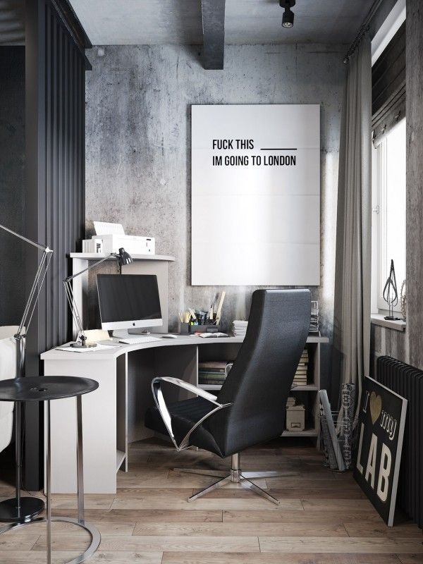 best 25 industrial home offices ideas on pinterest. Black Bedroom Furniture Sets. Home Design Ideas