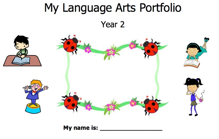 Language Arts Portfolio for students - Year 2 (2nd grade) - Australian Curriculum - includes phonics, writing, reading, grammar skills