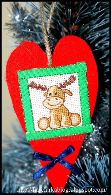 Hafciarka: Bożonarodzeniowe serca - renifery