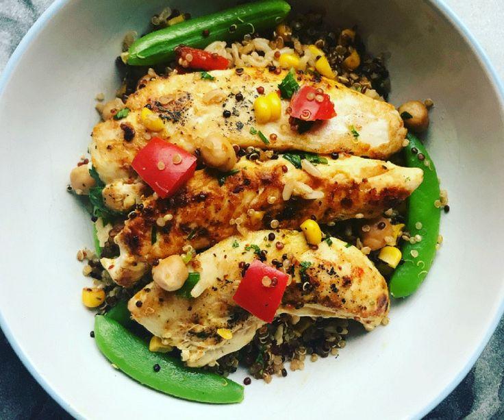 Rainbow Moroccan Chicken with Quinoa