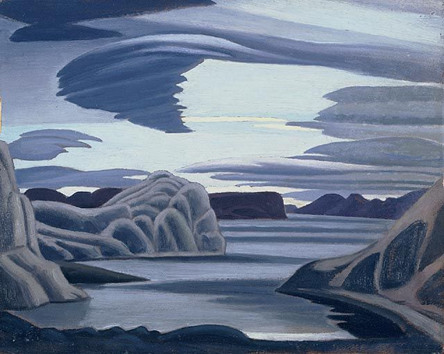 """Lake Harbour, South Shore, Baffin Island, Morning,"" Lawren S. Harris, 1930, oil on beaverboard, 12 x 15"", National Gallery of Canada."