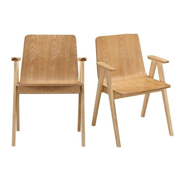 chaises design scandinave chene lot