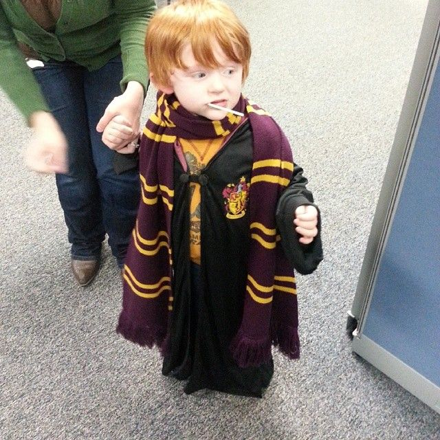 My friends kid dressed up as ron weasly for halloween.