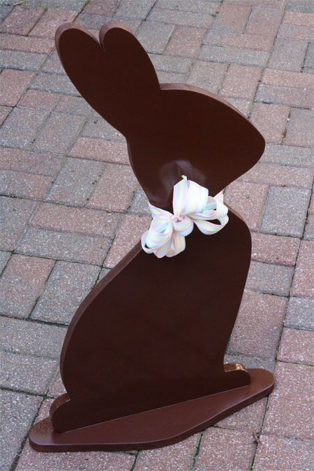 Wooden Chocolate Easter Bunny...Wish I had gotten this sooner...hubby would HAVE to cut them out...I would paint...these are adorable!!!