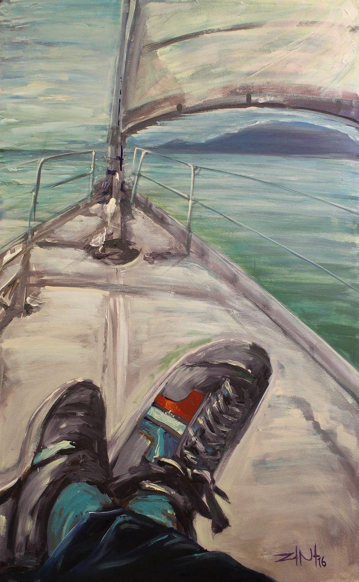 #shoes #paint #painter #painting #tisza #brush #picture #canvas #sailing #balaton #water