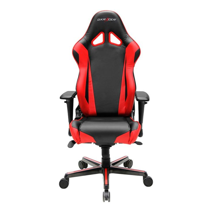 DXRacer Racing Series DOH/RV001/NR Newedge Edition Racing Bucket Seat Office Chair Gaming Chair PVC Ergonomic Computer Chair eSports Desk Chair Executive Chair With Pillows(Black/Red)
