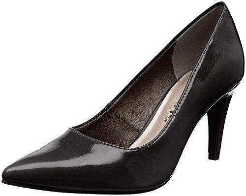 Tamaris 22447 Escarpins Femme Noir (Black Patent) 38 EU