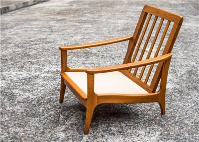 Chiswell Furniture lo-line teak armchair frame. Exact date unknown but Scandinavian influence indicates 1960s-1970s