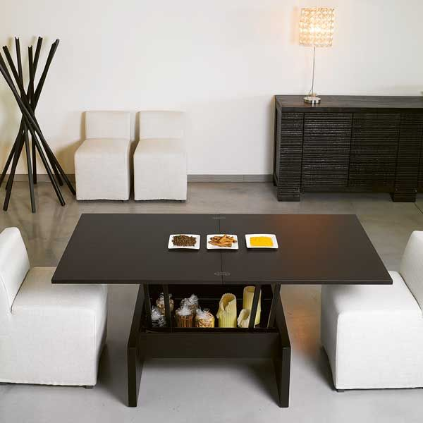 Love this convertable coffee table. Seats up to 6 for larger dinner parties  and folds - 25+ Best Ideas About Convertible Coffee Table On Pinterest