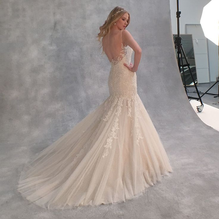 ✨Sparkle as you walk down the aisle in this beaded fishtail wedding dress 'Blake' by Viva Bride ✨ ✨ http://bit.ly/VB-Blake
