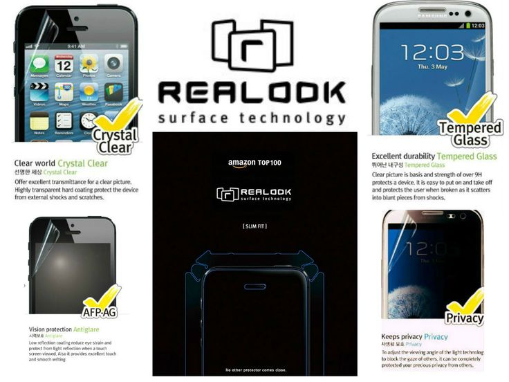 Realook Premium Screen Protectors Offers a variety of protectors that suits your need. From Crystal clear, Privacy, Anti Glare, Mirror,Tempered Glass to Leon, Name it and we have it!