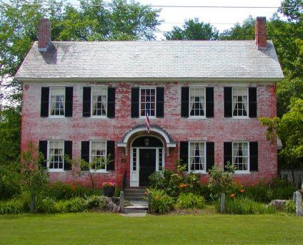 Townshend, Vermont old brick tavern - Federal style brick home