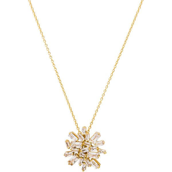 gorjana Amara Cluster Necklace ($71) ❤ liked on Polyvore featuring jewelry, necklaces, 18 karat gold necklace, 18k necklace, pendant jewelry, pearl-cluster necklaces and 18 karat gold jewelry
