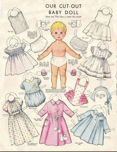 Baby Paper Doll_1, 1960s