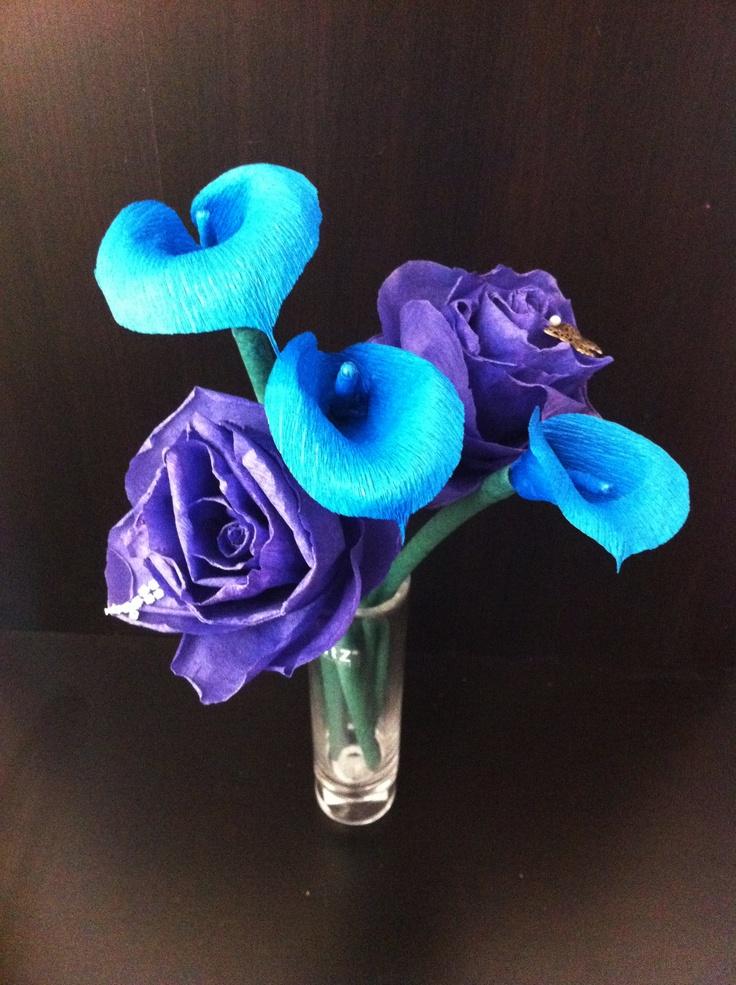 Blue calla lilies wedding pinterest