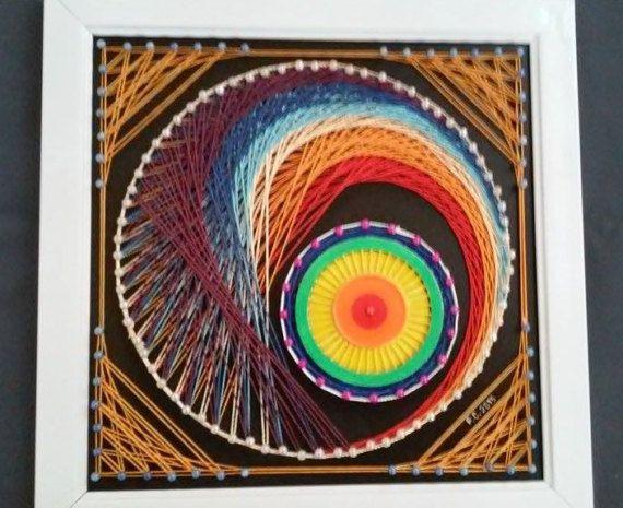 Illusion String Art by SmARTcraftBoutique on Etsy