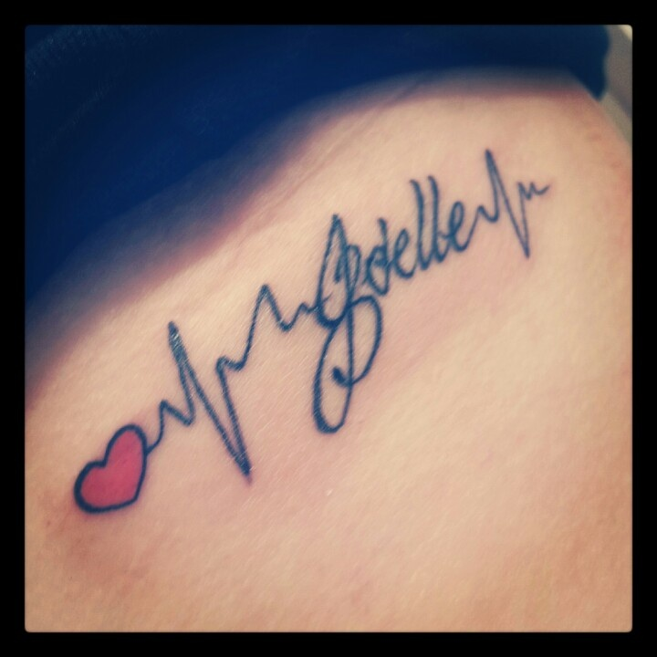 Tattoo In Honor Of Joelle And CHD Awareness Using Jo's