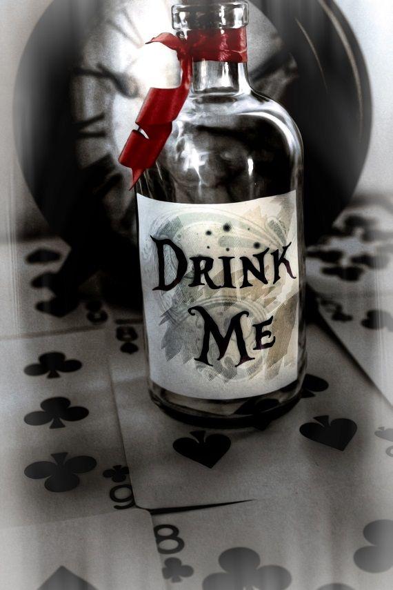 Drink Me Alice In Wonderland Prop Alice In Wonderland Prop