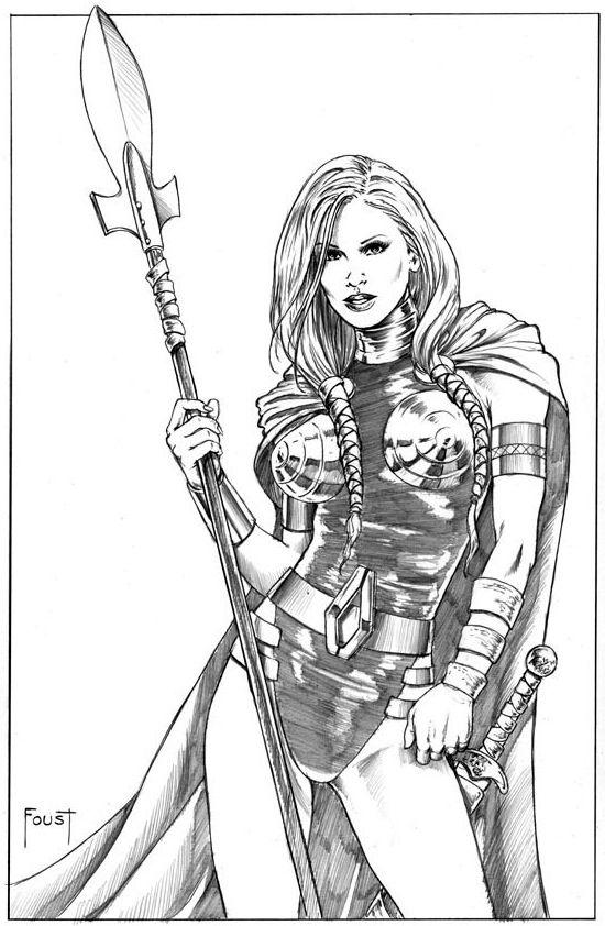Valkyrie By Mitch Foust Comic Art Valkyrie Pinterest