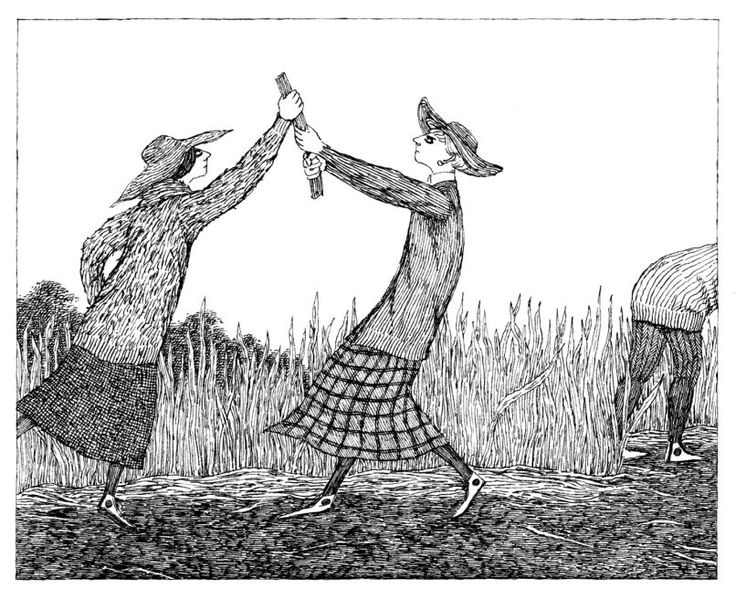 Gorey's The Deranged Cousinsis his only book to take place in Cape Cod where he spent most of his adult life. (Photo: Courtesy of the Edward Gorey Charitable Trust)