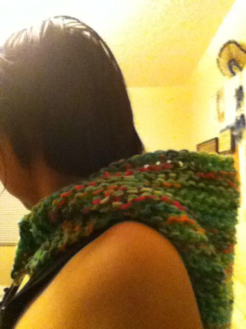 cowl is down.. knit loom