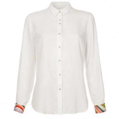 Paul Smith Shirts | Off-White Contrast Cuff Shirt