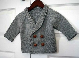 Babyvest breipatroon / doublebreasted baby cardi pattern