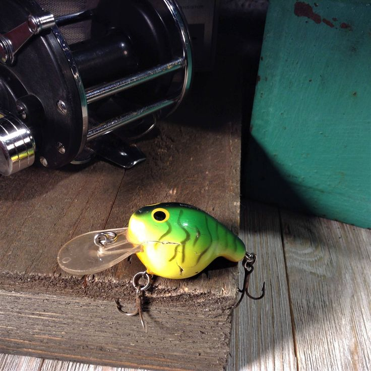 """Bagley's Fat Cat, Vintage Fishing Lure, 2"""" Fat Cat Hot Tiger Crankbait, Balsa Wood, Bait & Tackle, Old Lure, Bagley Lures, Fishing Supplies"""