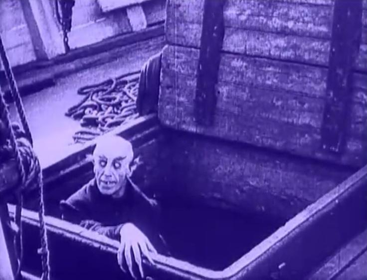 "Screencap of Max Schreck as Count Orlok in the iconic ""Nosferatu"""