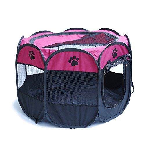 Homedeco Pet Dog Cat Portable Folding Pet Tent Playpen Dog Fence Puppy Kennel Exercise Play Foldable Outdoor Tent Bag:   Warm Tips:/bbrbr * Due to limitations in photography and the inevitable differences in monitor settings, the color of pictures showed may not be 100% the same with actual items.brbr * Before payment, please double check the EXPECTED DELIVERY DATE and your delivery information:contact name, address,zip code,PHONE NUMBER(especially when you choosed Expedited Shipping) ...