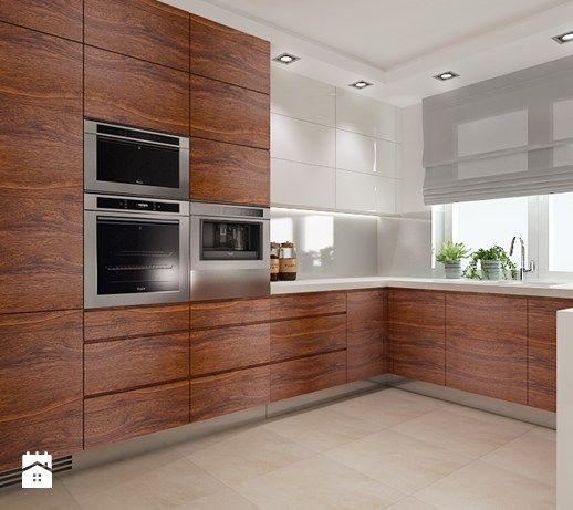 Projekt domu Warszawa - Duża otwarta kuchnia w kształcie litery u w aneksie, styl tradycyjny - zdjęcie od All Design Agnieszka Lorenc