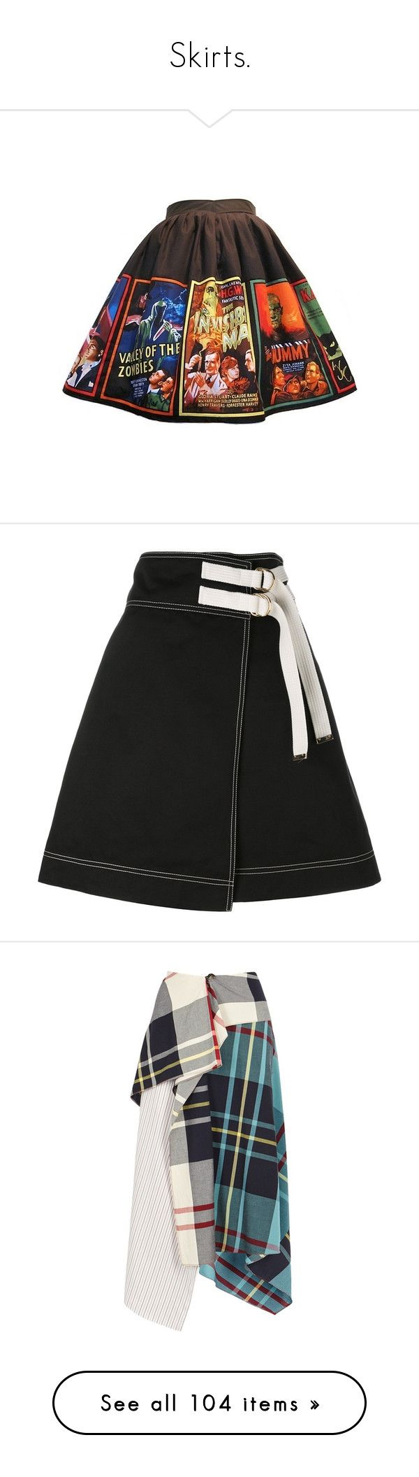 """Skirts."" by jooniejoonie ❤ liked on Polyvore featuring skirts, bottoms, black, wrap around skirt, wrap skirt, wraparound skirt, marni, marni skirt, multi color skirt and colorful skirts"