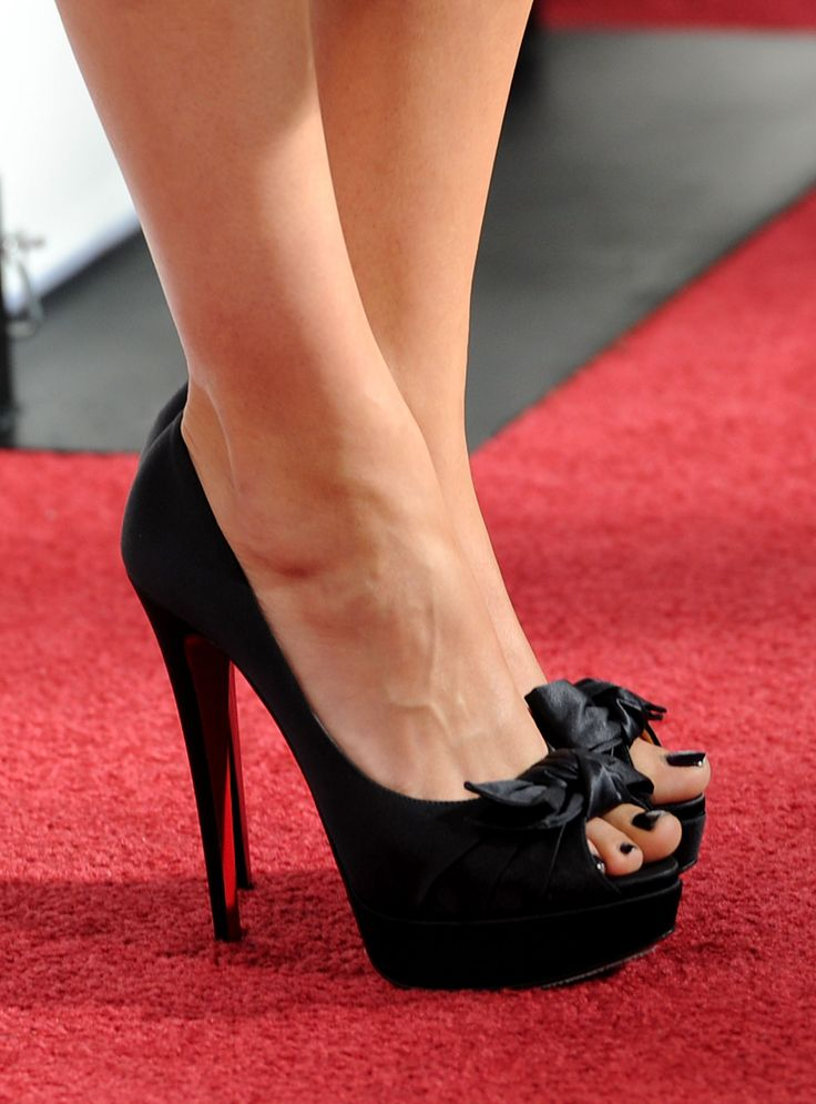 Hot shoes!  Way to high for me, but I like them. Mila Kunis.