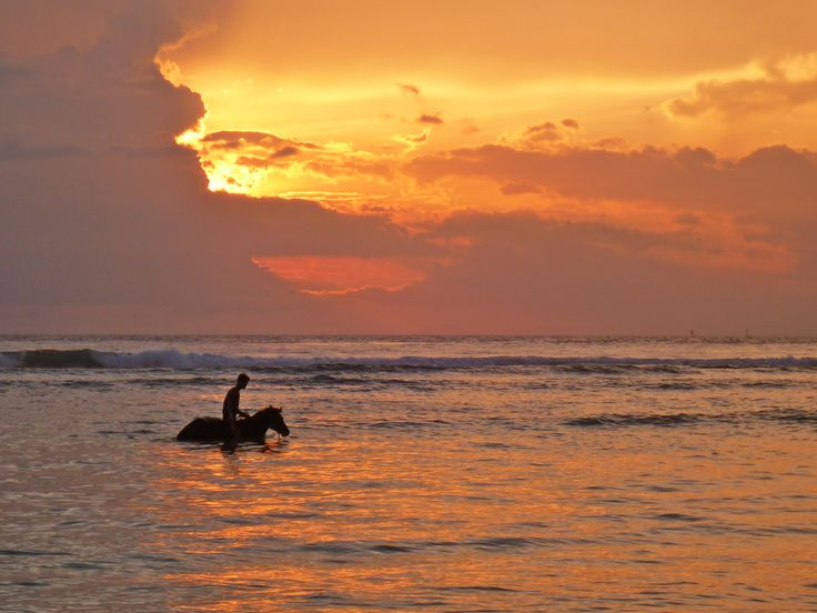 Horse riding at sunset. We can advise on all manner of activities to keep you busy on your stay at the Pondok Santi Estate.
