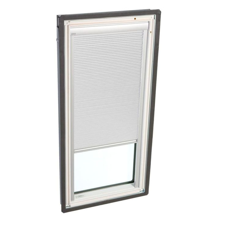 VELUX 21 in. x 37-7/8 in. Fixed Deck-Mount Skylight with Laminated Low-E3 Glass and White Manual Room Darkening Blind