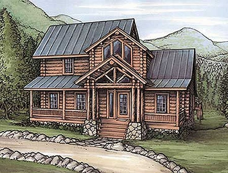 243 Best Images About Log Home Floor Plans On Pinterest