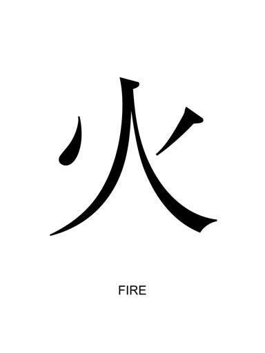 Wind Kanji Symbol