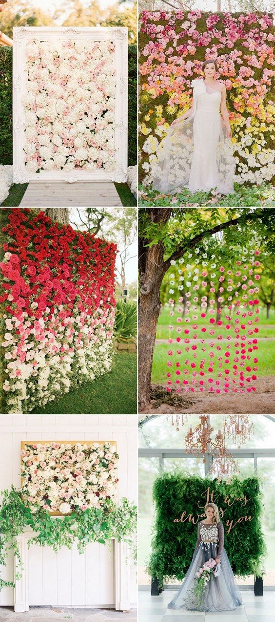 Wall Decoration For Wedding Ideas : Best flower decoration ideas on events