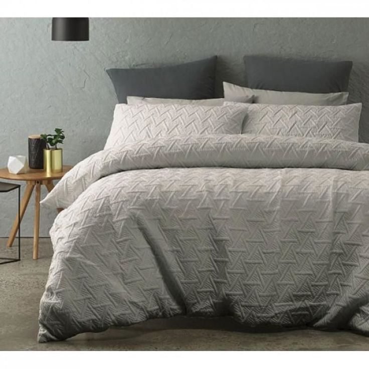 Create a modern look to your bedroom with this Bowen Silver Quilted Quilt Cover Set by Phase2. What do you guys think? Double type image if you like it too.  #manchesterfactory #marrickville #sydney #bedlinen #bedding #homeware #interior #homeinterior #decor #homedecor #linen #manchester #homewares #interiordesign #homestyle #homedesign #interiorinspiration #styling #interiors #homestyling #designer #instahome #interiorinspo #textiledesign #homeinspiration