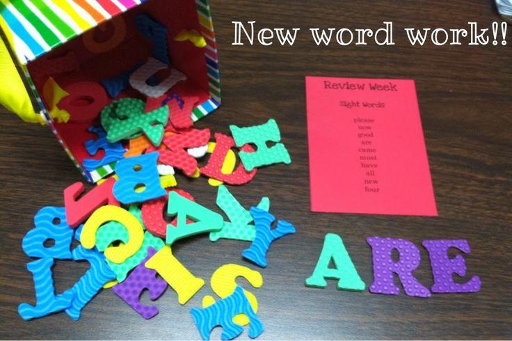 Foam Letters for Word Work!