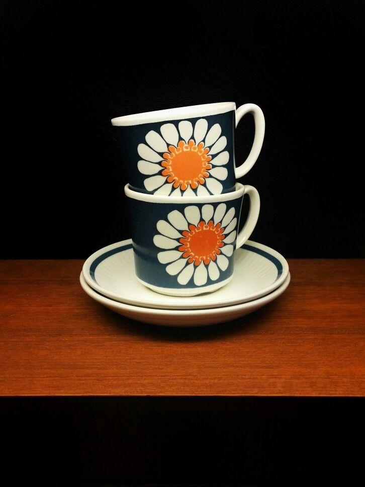 Figgjo Fajanse norway. turi design Daisy. 1969.