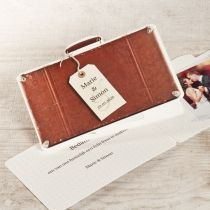 Bedankkaartje reiskoffer #bedankkaart #bedankje #huwelijk #trouwkaart #koffer