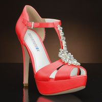 Coral Heels for Wedding | Jewel by David Tutera