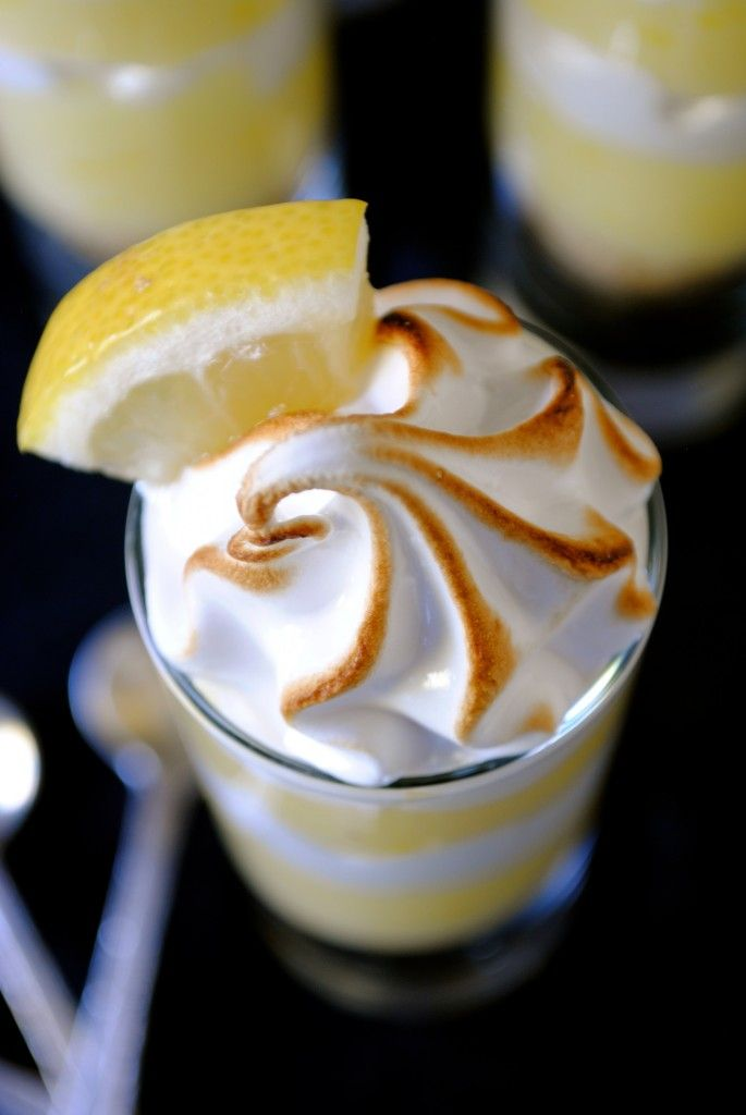 Lemon Meringue Pie Shooters are the perfect and elegant way to end a meal. The dessert bursts with the tart taste of fresh lemon juice and creamy meringue.
