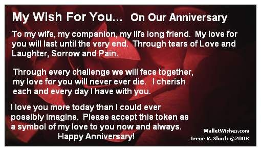 Anniversary Wishes for My Wife | 1501