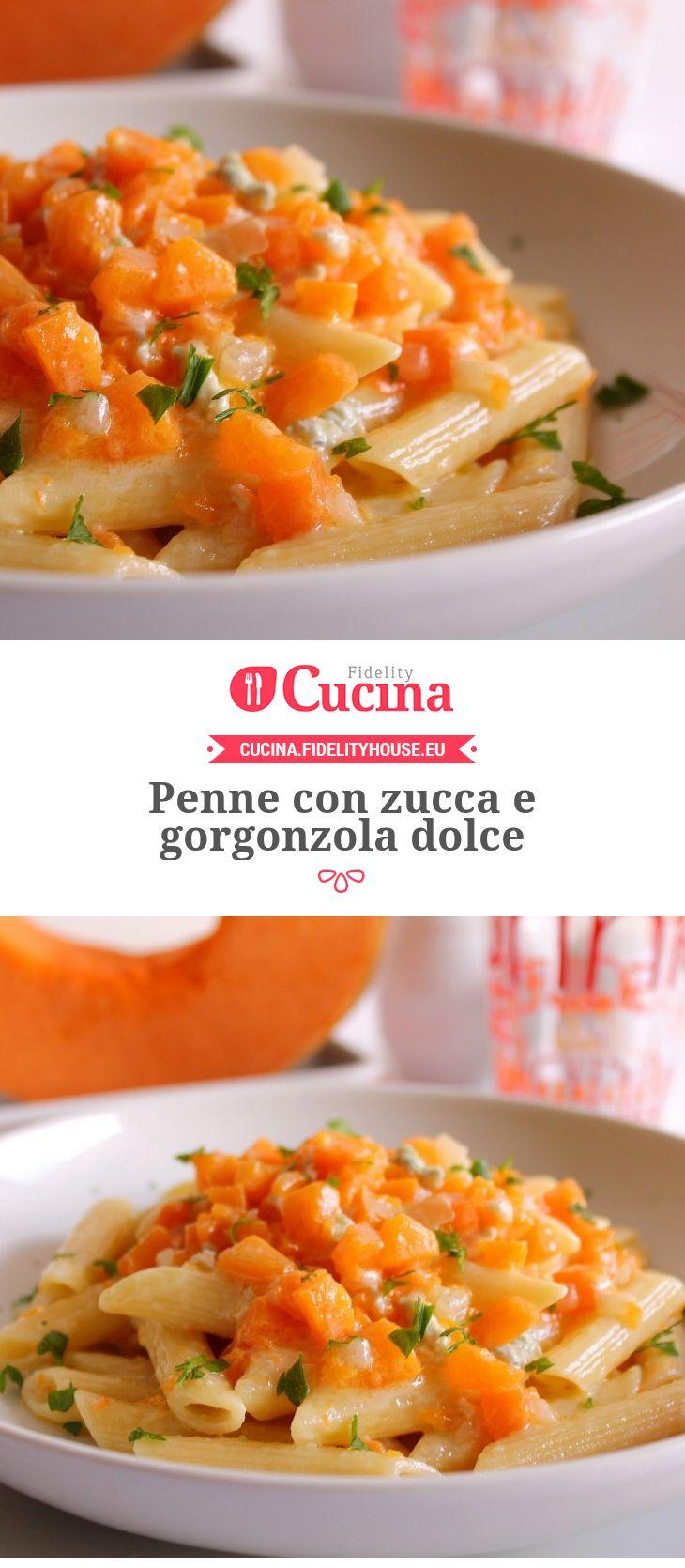 Penne con #zucca e #gorgonzola dolce della nostra utente Giovanna. Unisciti alla nostra Community ed invia le tue ricette!