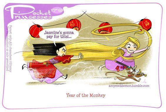 Pocket Princesses 179: Year of the Monkey Please reblog, do not repost or remove credits Facebook page ~ Instagram: