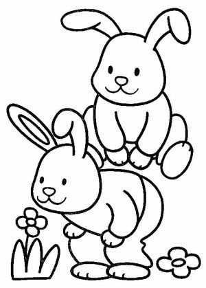 bunnies coloring page 9 is a coloring page from bunnies coloring booklet your children express their imagination when they color the bunnies coloring page