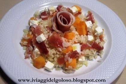 Ricetta Insalata di riso con prosciutto melone e feta, da I viaggi del goloso - Petitchef